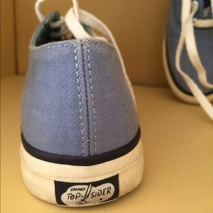 Sperry Top Spider Canvas Sneakers, Sz 7.5